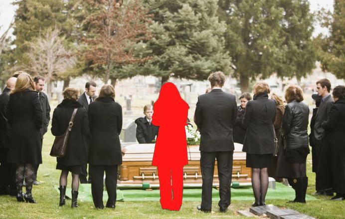 Vrienden niet op begrafenis
